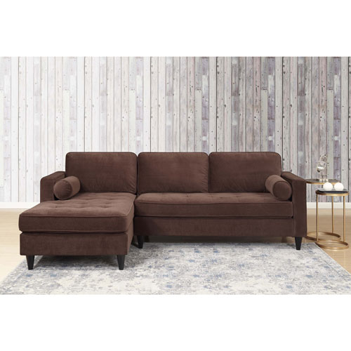 Picket House Bordeaux Tufted Sofa With Chaise Lounge Godiva