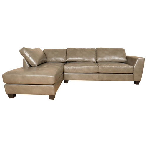 Mid Town Alina Faux Contemporary Left Facing Leather Sectional