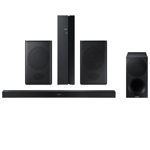 Samsung 320-Watt 2.1 Channel Sound Bar with Wireless Subwoofer and 160-Watt Wireless Rear Speaker Kit - Pair