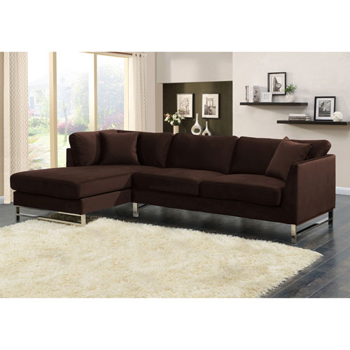 Sienna Modern 2 Piece Sectional Sofa With Left Facing Chaise