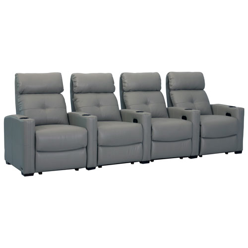 4 fauteuils inclinables en cuir cloud xs850 d 39 octane pour cin ma maison gris si ges de. Black Bedroom Furniture Sets. Home Design Ideas