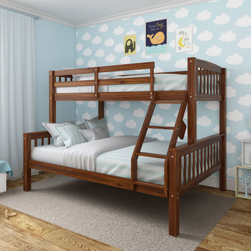 Dakota Contemporary Kids Bunk Bed Double Brown Kids Beds
