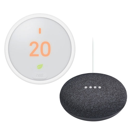 Nest Thermostat E Wi Fi Smart Thermostat With Google Home Mini