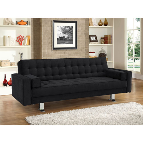 Rudolpho Fabric Sofa Bed - Black - Only at Best Buy