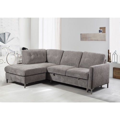 Michele 2 Piece Sectional Sofa With Left Facing Chaise Grey