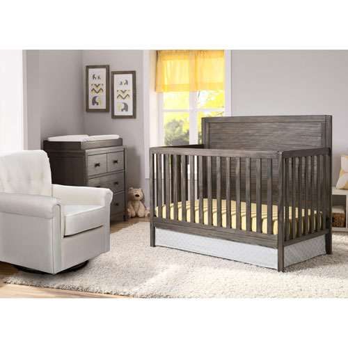 Delta Children Convertible Crib Dresser Glider Guard Rail Bed