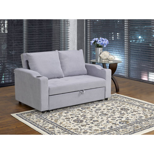 Terrific Fresno Transitional Polyester Sofa Bed Grey Only At Best Buy Pabps2019 Chair Design Images Pabps2019Com