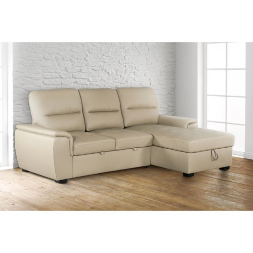 Peachy Alana Contemporary 2 Piece Sectional Sofa With Pull Out Sleeper Right Facing Chaise Latte Ibusinesslaw Wood Chair Design Ideas Ibusinesslaworg