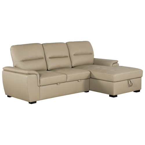 Magnificent Alana Contemporary 2 Piece Sectional Sofa With Pull Out Sleeper Left Facing Chaise Latte Ibusinesslaw Wood Chair Design Ideas Ibusinesslaworg