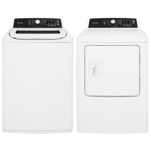 Frigidaire 4.7 Cu. Ft. High Efficiency Top Load Washer & 6.7 Cu. Ft. Electric Dryer - White