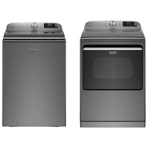 Maytag 6 Cu. Ft. High Efficiency Top Load Washer & 7.4 Cu. Ft. Electric Dryer - Metallic Slate