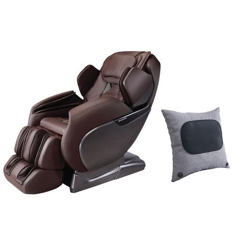 Fauteuil massage 6 modes d'iComfort avec coussin de massage- Brun - Seulement chez Best Buy