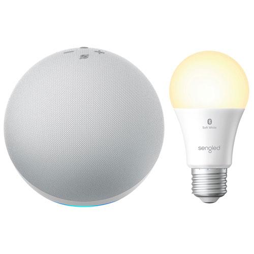 Amazon Echo & Sengled A19 Smart Bluetooth LED Light Bulb - Glacier White/Soft White
