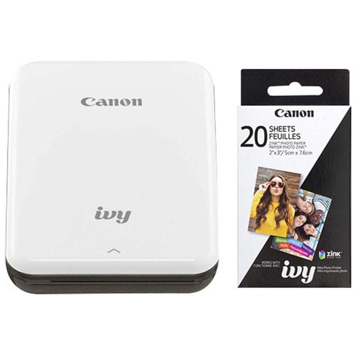 Canon IVY Mini Wireless Photo Printer with Photo Paper - Slate Grey