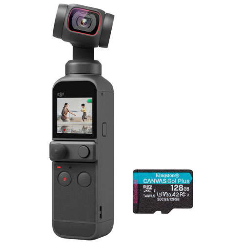 DJI Pocket 2 HD Action Camera with 128GB Memory Card - Black