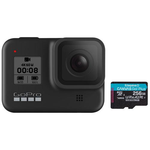 GoPro HERO8 Black Waterproof 4K Sports & Helmet Camera with 256GB Memory Card