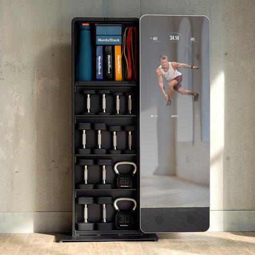 NordicTrack Vault Reflective Trainer Smart Fitness Mirror with Premium Accessories Kit