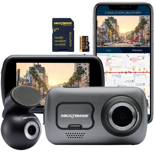 "Nextbase 622GW 4K Wi-Fi Dash Cam with 3"" LED Screen, Rear-Window Camera & 64GB Memory Card"