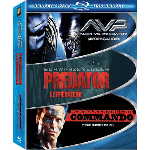 Trio Muscle : Commando/Prédateur/Alien vs Prédateur (Blu-ray) (1985)