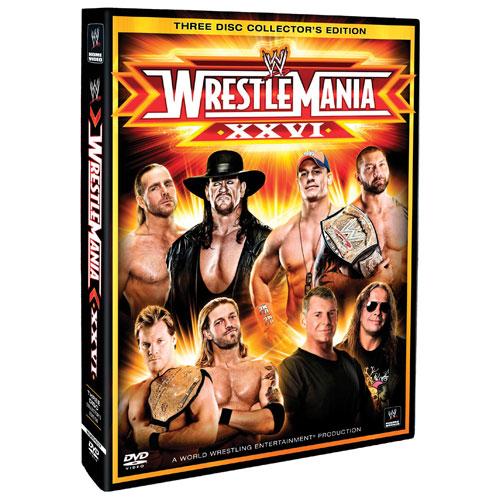 WWE: WrestleMania XXVI (2010) (édition collection de trois DVD)