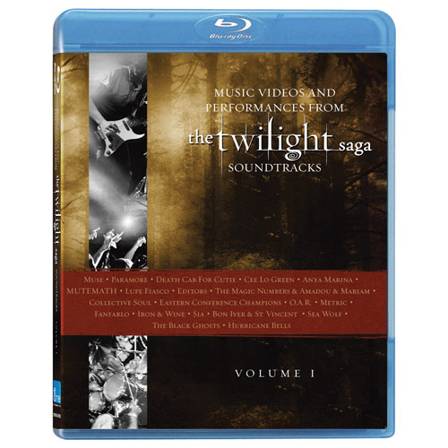 Music from The Twilight Saga Soundtracks: Videos and Performances, Vol. 1 (Blu-ray) (2010)