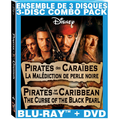 Pirates of the Caribbean: The Curse of the Black Pearl (Bilingual) (Blu-ray Combo) (2003)