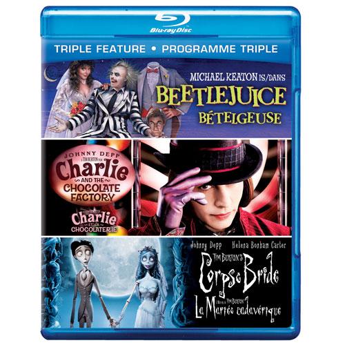 Beet Juice /Charlie & the Choc Factory /Tim Burton Corpse Bride (Blu-ray)