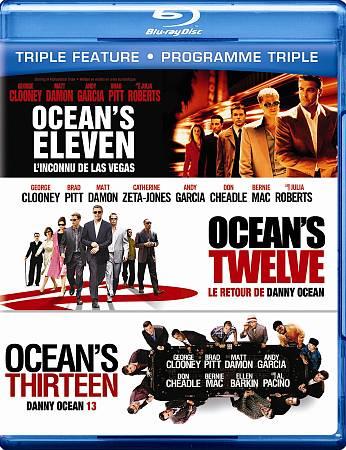 Ocean 11 (2001)/ Ocean 12/ Ocean 13 Triple Feature (Blu-ray)