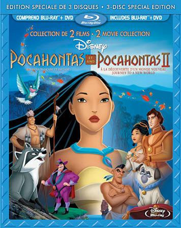 Pocahontas 1 and 2 (Bilingual) (Blu-ray Combo) (1990 / 1998)