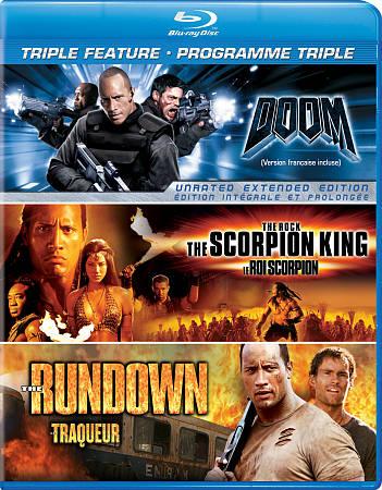 Scorpion King/ Rundown/ Doom (Blu-ray)