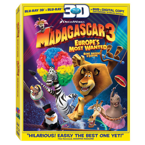 Madagascar 3: Europes Most Wanted (3D Blu-ray)