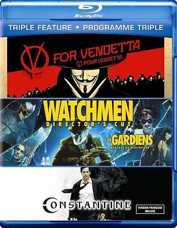V For Vendetta/ Watchmen/ Constantine (Blu-ray)