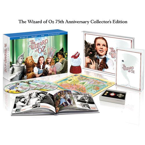 Le magicien d'Oz (bilingue) (édition limitée de collection du 75e anniversaire) (Blu-ray 3D)