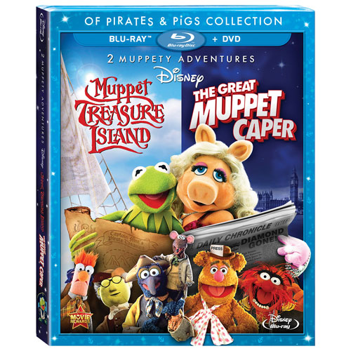The Great Muppet Caper And Muppet Treasure Island: Of Pirates & Pigs (Combo Blu-ray)