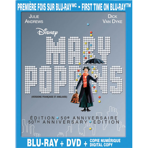 Mary Poppins (Bilingue) (édition 50e anniversaire) (Blu-ray) (1964)