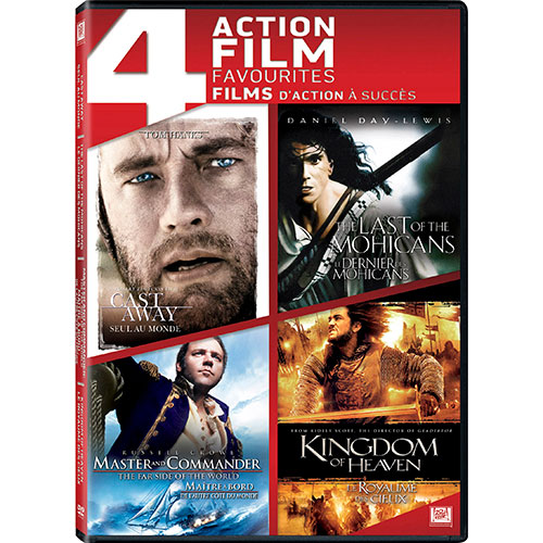 Cast Away/ Last of the Mohicans/ Master and Commander/ Kingdom of Heaven