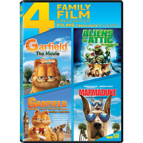 Garfield The Movie/ Aliens in the Attic/ Garfield A Tail of Two Kitties/ Marmaduke