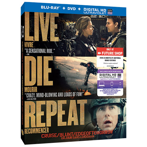 Live Die Repeat. Edge of Tomorrow (Bonus Features) (Only at Best Buy) (Blu-ray Combo) (2014)