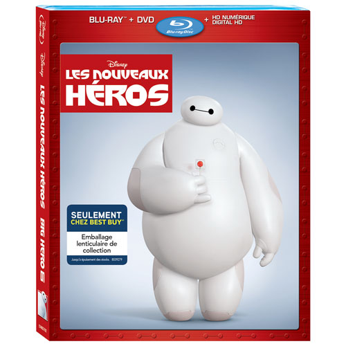 Big Hero 6 (français) (Emballage lenticulaire) (Seulement à Best Buy) (Blu-ray) (2014)