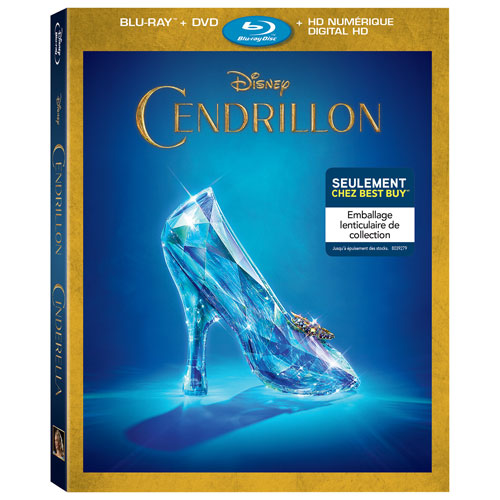 Cinderella (Bilingue) (emballage lenticulaire) (Seulement à Best Buy) (Combo Blu-ray) (2015)