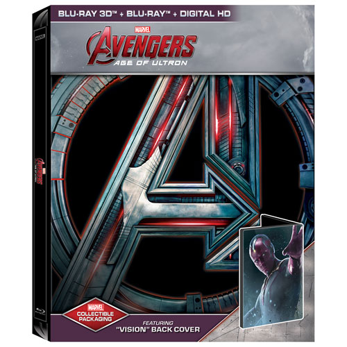 Avengers: Age of Ultron (English) (Vision SteelBook) (Only at Best Buy) (3D Blu-ray Combo) (2015)