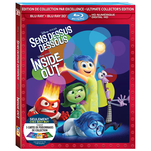 Inside Out (Bilingue) (Seulement à Best Buy) (Combo Blu-ray 3D) (2015)