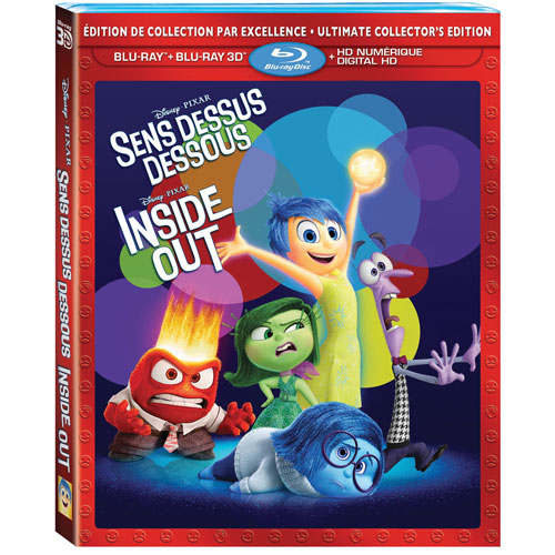 Inside Out (Bilingual) (3D Blu-ray Combo) (2015)