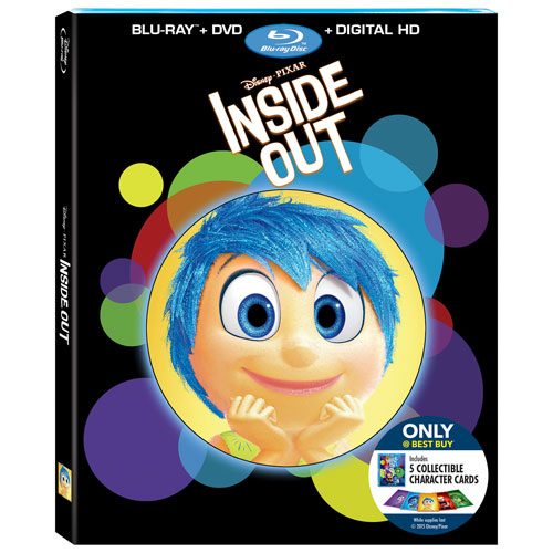 Inside Out (English) (With Collectible Character Cards) (Only at Best Buy) (Blu-ray Combo) (2015)