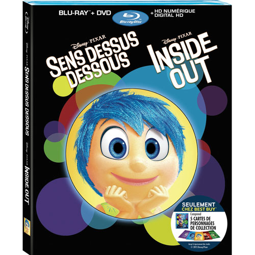 Inside Out (Bilingual) (With Collectible Character Cards) (Only at Best Buy) (Blu-ray Combo) (2015)
