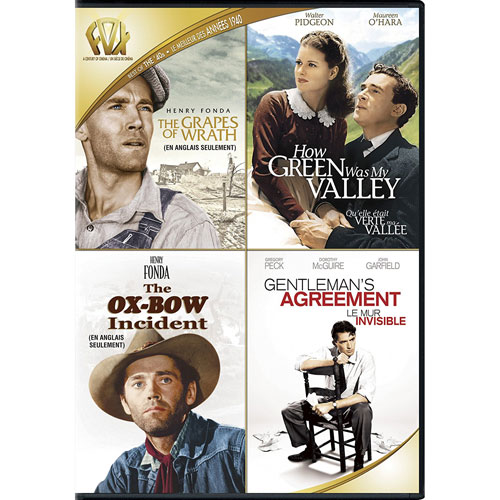Grapes of Wrath, The/ How Green was My Valley/ The Ox Bow Incident/ Gentleman's Agreement