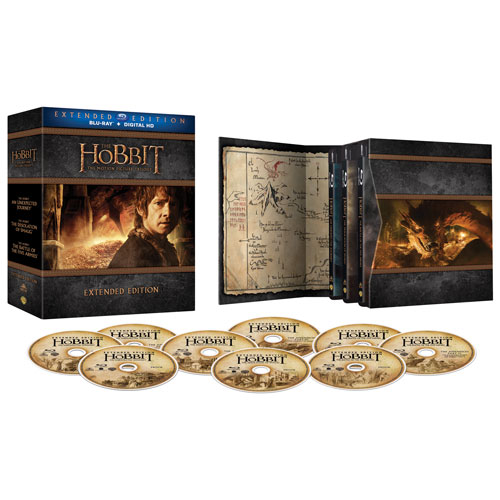 Hobbit Trilogy (Bilingual) (Extended Edition) (Blu-ray)