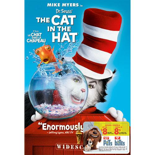 Dr Seuss Cat in Hat (avec movie cash)