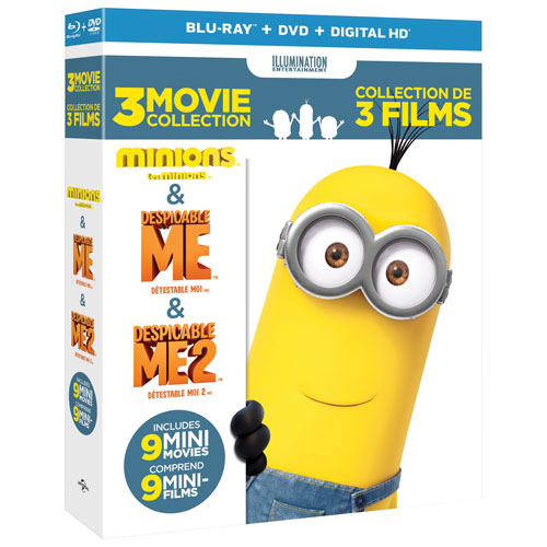 Despicable Me 3-Movie Collection (combo Blu-ray)