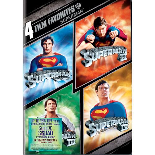 4 film favorites: Superman (bilingue) (avec Movie Cash)